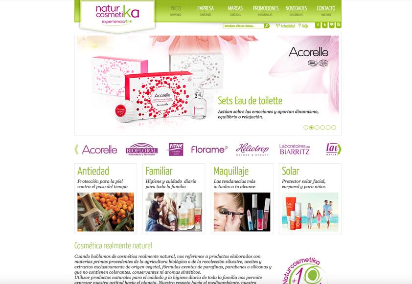 ERP integrado con tienda PrestaShop Natur Cosmetika